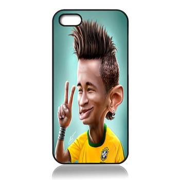 Cute Cartoon Design Neymar Jr Barcelona back Case Cover For Iphone 5s 5c 5 ,4s 4 6G 4.7 6 PLUS 5.5 inch cell Phone Case(China (Mainland))