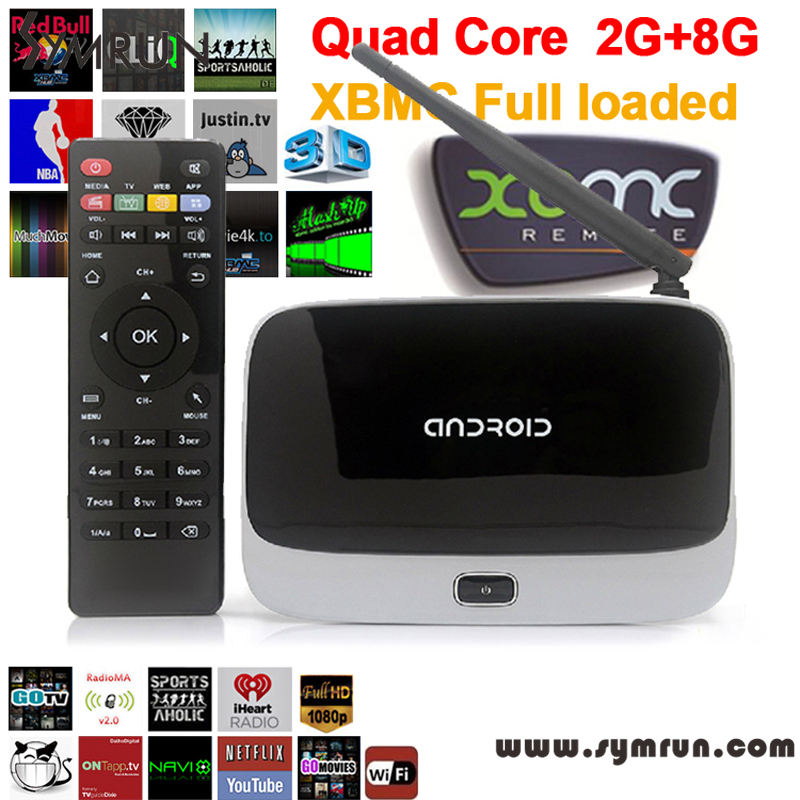 Symrun Full Hd Android 4.4 Tv Box Cs918 Q7 Rk3188T 1080P Xbmc Quad Core Media Player Android Tv Box Q7 Mk888(China (Mainland))