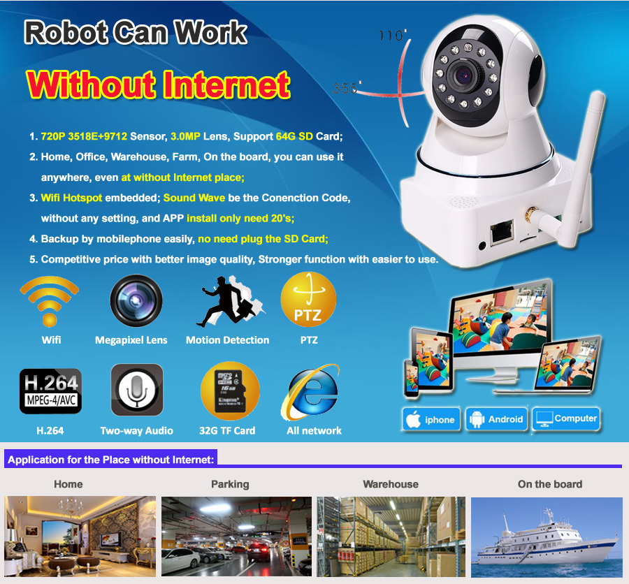 wifi p2p 720p ip camera can work without internet baby monitor smart wireless. Black Bedroom Furniture Sets. Home Design Ideas