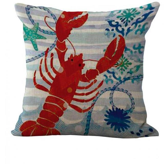 Creative Cartoon Deep Sea Creatures Cotton Pillow Cushion And Washable Waist Pillow Cute Seat ...