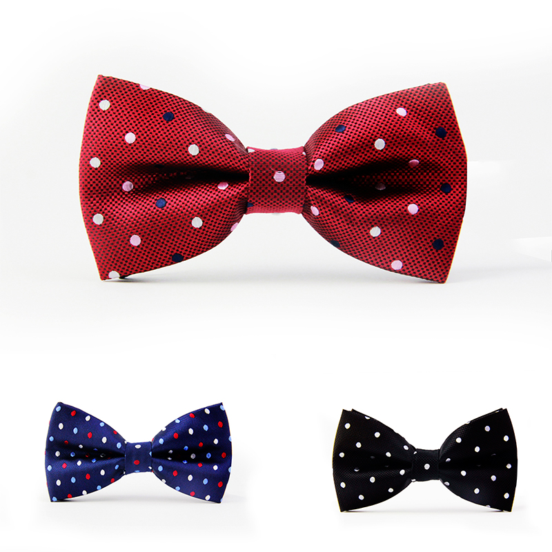 2015 NEW active solid dot geometric bow tie one size noeud papillon boys and girls polyester butterfly ties neckwear