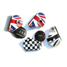 Smart cas de clé de voiture en cuir sac charmes de la chaîne porte – voiture – style accessoires automobiles pour BMW Mini Cooper R56 Clubman angleterre drapeau New