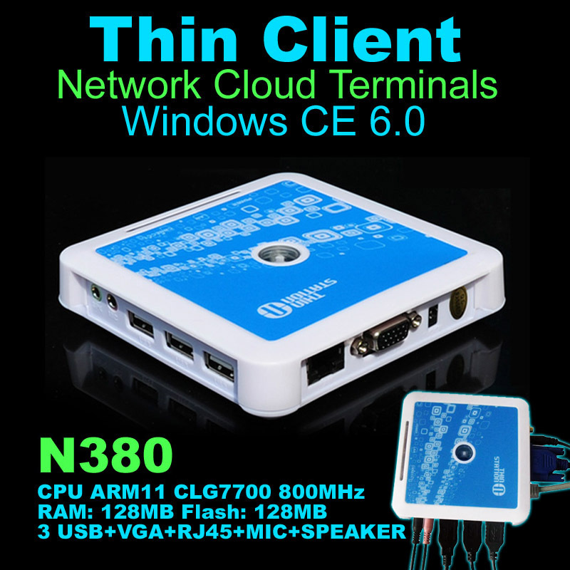 N380( TS660) Win CE 6.0 Thin Client Net Computer Mini PC Share Sharing Station Network Terminal with 3 USB Ports