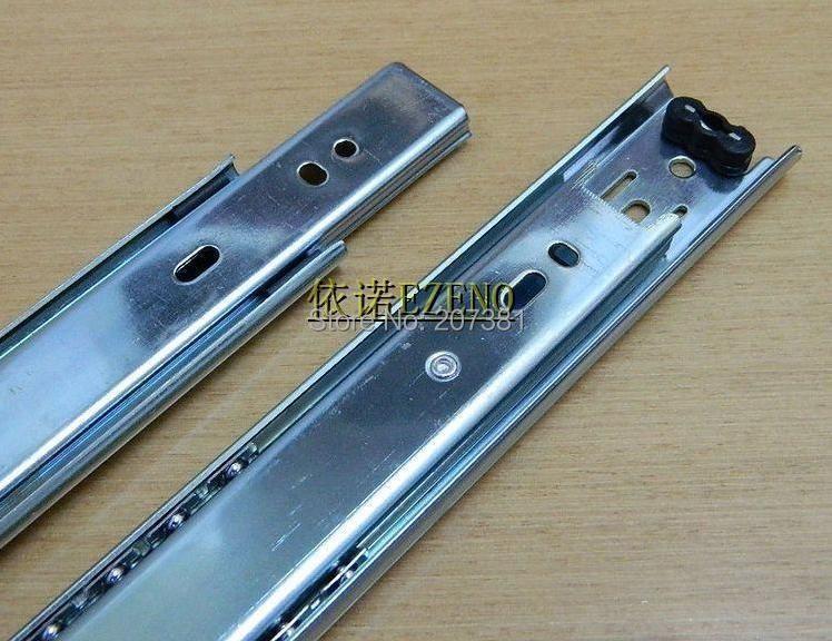 """Free shipping 1 pair 11.81"""" Side Mount Ball Bearing Drawer Slides 1.38""""width 44lb(China (Mainland))"""