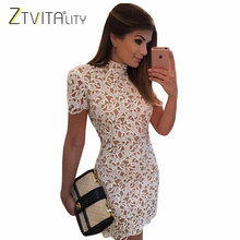 Buy ZTVitality 2017 Fashion White Lace Hollow Elegant Party Dresses Vestidos Sexy Backless Women Dress Mini Vestido De Festa XXL for $15.86 in AliExpress store