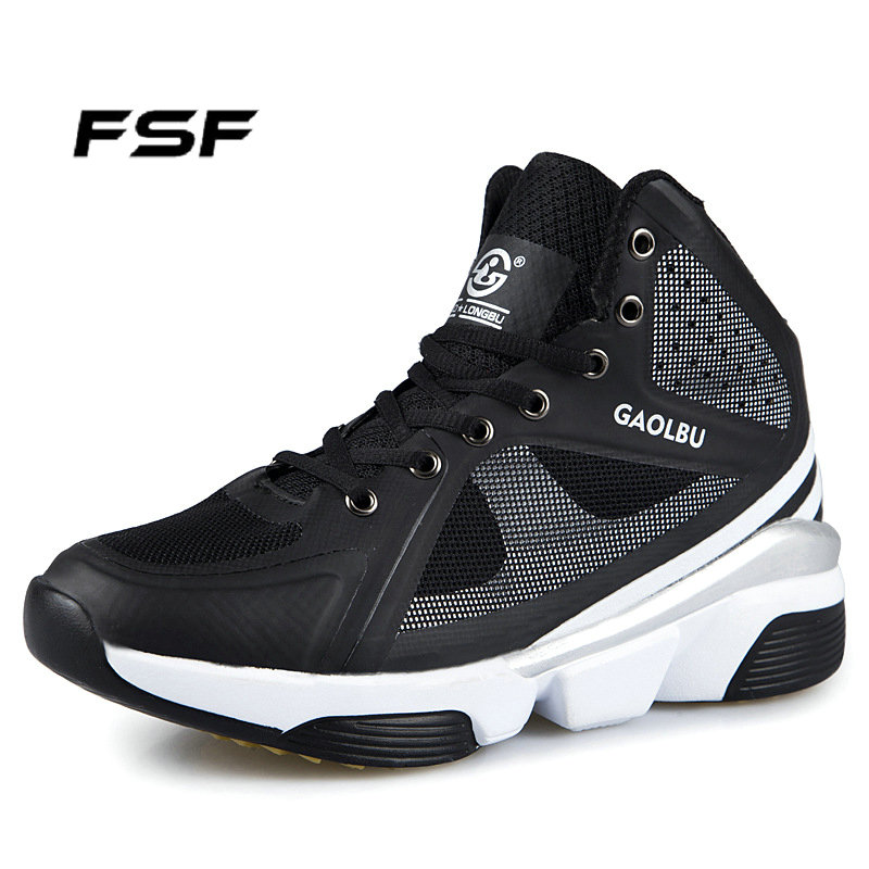 FSF Free Brand Mens Basketball Shoes 3 Colors PU+Rubber Sole Breathable Mesh Lining EUR Size 39-45 Plus MS022