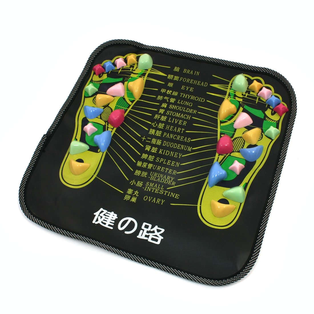 Best Sale Colored Plastic Walk Stone Square Healthy Foot Massage Mat Pad Cushion(China (Mainland))
