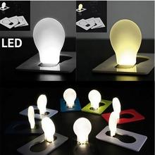 Portable LED Card Pocket Light bulb Lamp Wallet Size New Design nightlight children's led night light mini night lights(China (Mainland))
