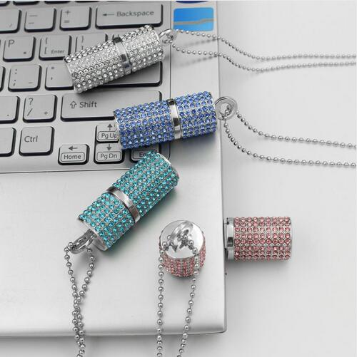 REAL Jewelry Mini USB Stick 2.0 Pendrive 512GB USB Flash Drive 1TB 2TB Real Capacity Crystal Pendrive 32/64/128/256GB Girl Gift(China (Mainland))