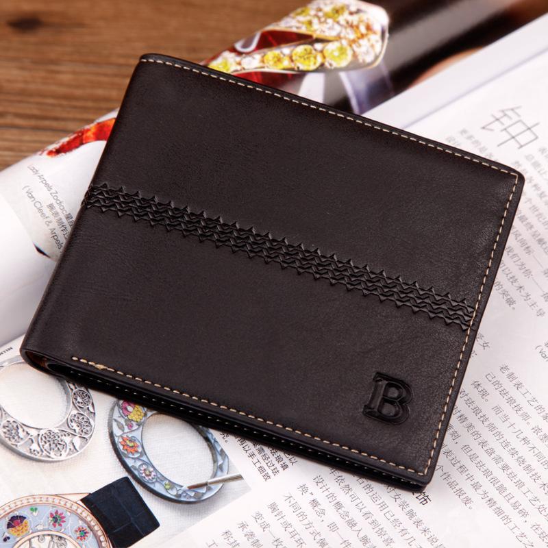NEW Arrival Brand korean mens wallet  Vintage letter purse Super soft short wallet card purse Free shipping<br><br>Aliexpress