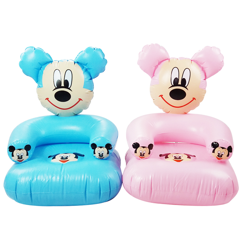 1-6 Years Old Children Cute Portable Cartoon Toy Chairs Lovely Inflatable Sofa Kids PVC Chairs Baby Seats(China (Mainland))
