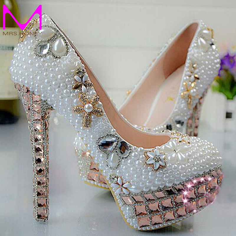 Buy 2016 new arrival pretty wedding shoes for Heels for wedding dress