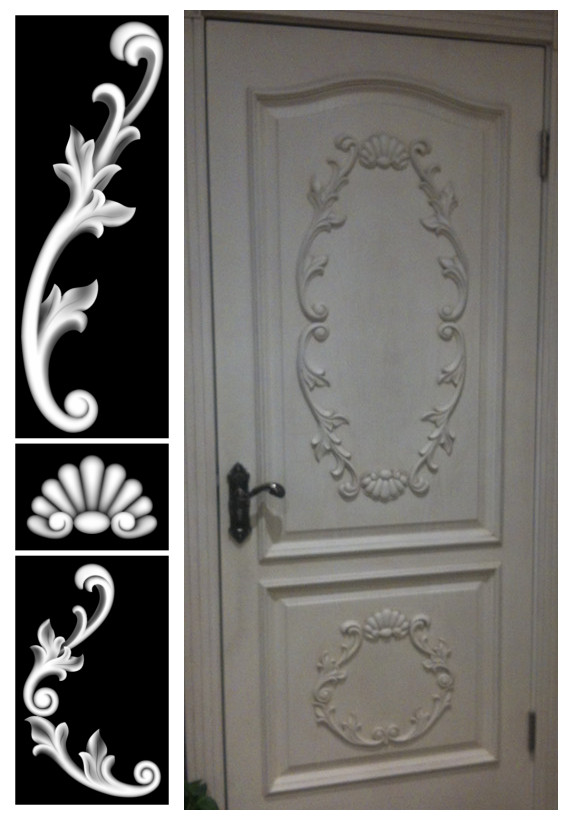 artcam 3d relief art stl format Relief engraving wood carving fashion signs door flowers ofhead flower - CNC Models Store store