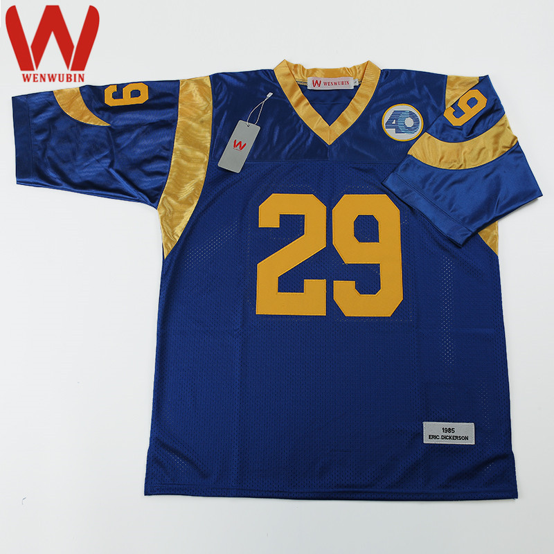 WENWUBIN Mens #29 Eric Dickerson Embroidered Throwback Football Jersey(China (Mainland))