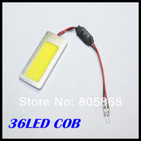 5W COB Chip 36led LED Car Interior Light T10 Festoon Dome BA9S Adapter 12V,Wholesale Car Vehicle LED Panel Free shipping