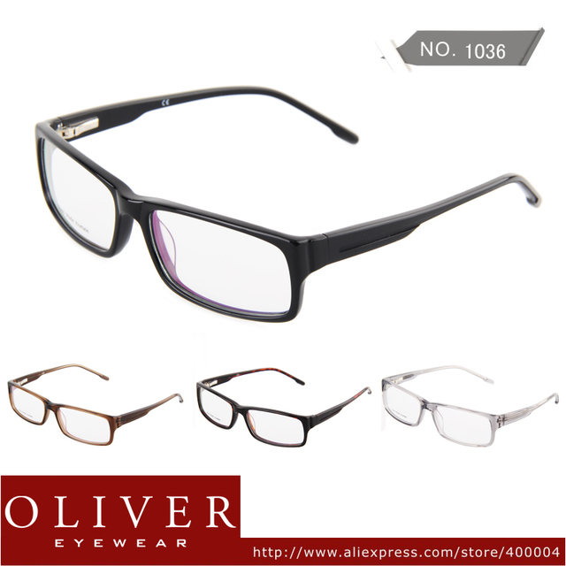 New Design Free Shipping Fashion High Quality Acetate Optical Eyeglasses Full Frame Oliver Eyewear Brand 1036