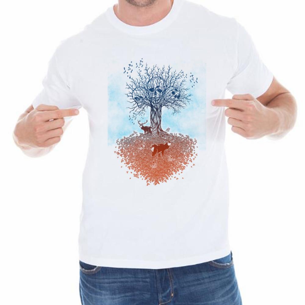 tops Tees the tree life of death men 3d t shirt print cotton o-neck man t-shirt(China (Mainland))