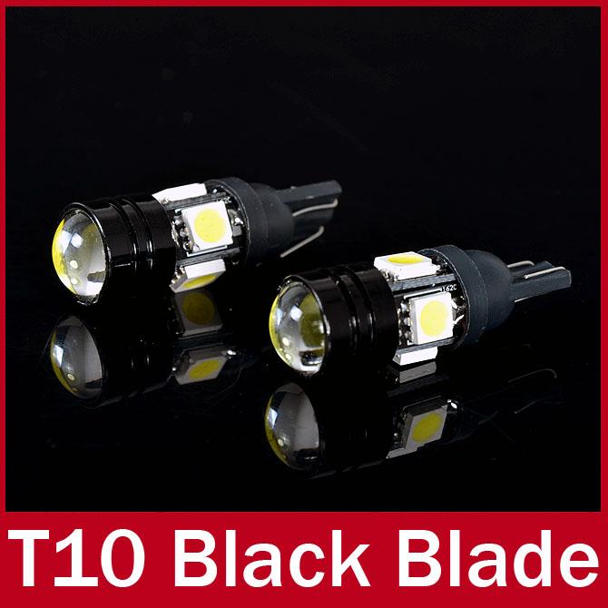 2 X T10 LED W5W Car LED Auto Lamp 12V Light bulbs with Projector Lens for