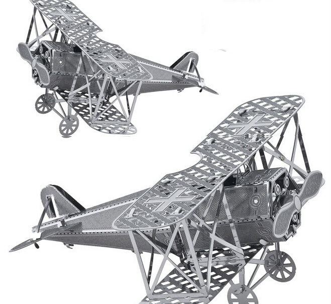 Fokker aircraft DIY 3D metallic Nano Puzzle Model Desktop decoration d Assemble Miniature airplane tank windmill Corsair(China (Mainland))