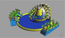 Factory direct large inflatable water park, inflatable water bounce, inflatable pool  SCB-057(China (Mainland))