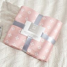 Floral Pattern Cozy Lightweight Muslin Cotton Throw Blanket for Bed & Sofa Travel Summer Bedding Coverlet Bedspread(China)