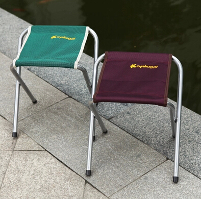 2pcs/lot Portable Folding Camping Stool Chair Seat for Fishing Festival Picnic BBQ Beach with Bag mauve/green HD0121(China (Mainland))