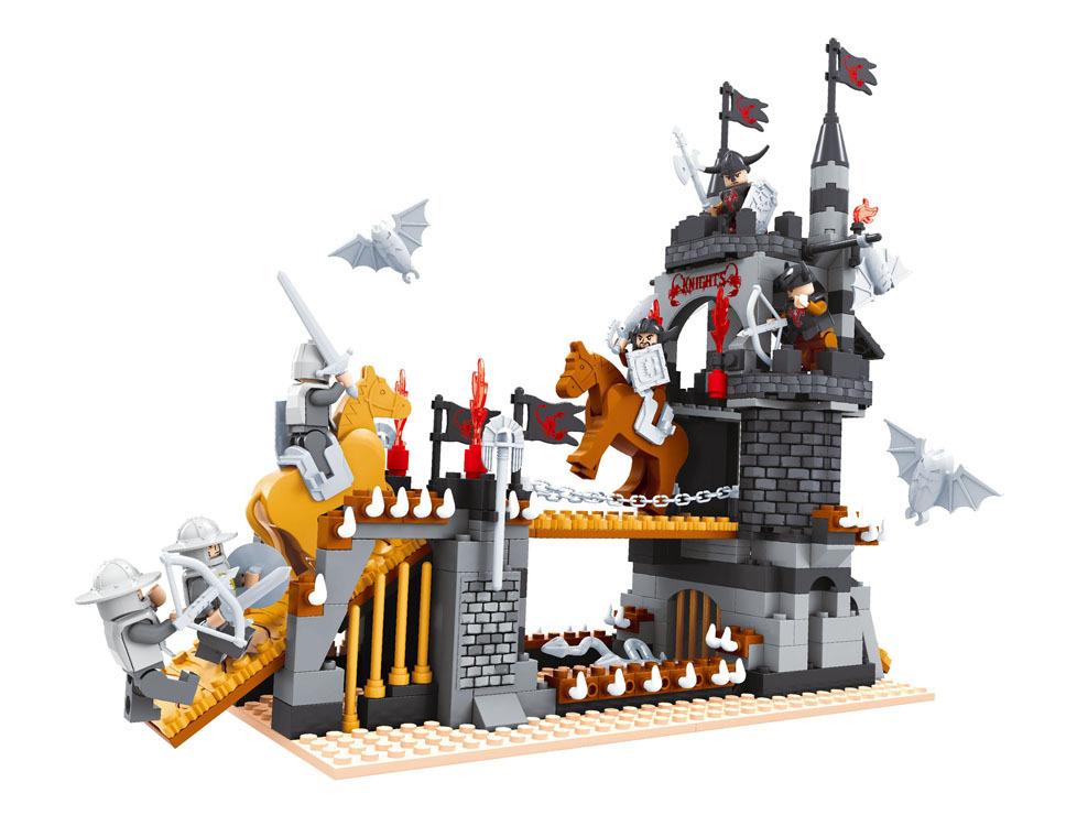 Building Block Sets Compatible lego Medieval Castle Knight 3D Construction Bricks Educational Hobbies Toys Kids - JENS store