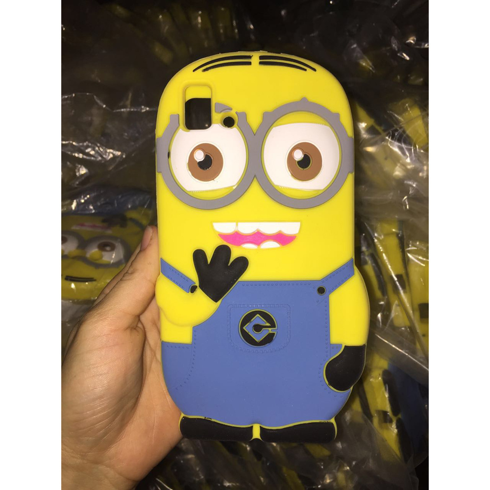 BQ E5 Case 3G & 4G Version 3D Silicone Cartoon Minions Cell Phone Back Cases Cover for BQ E5 cover(China (Mainland))