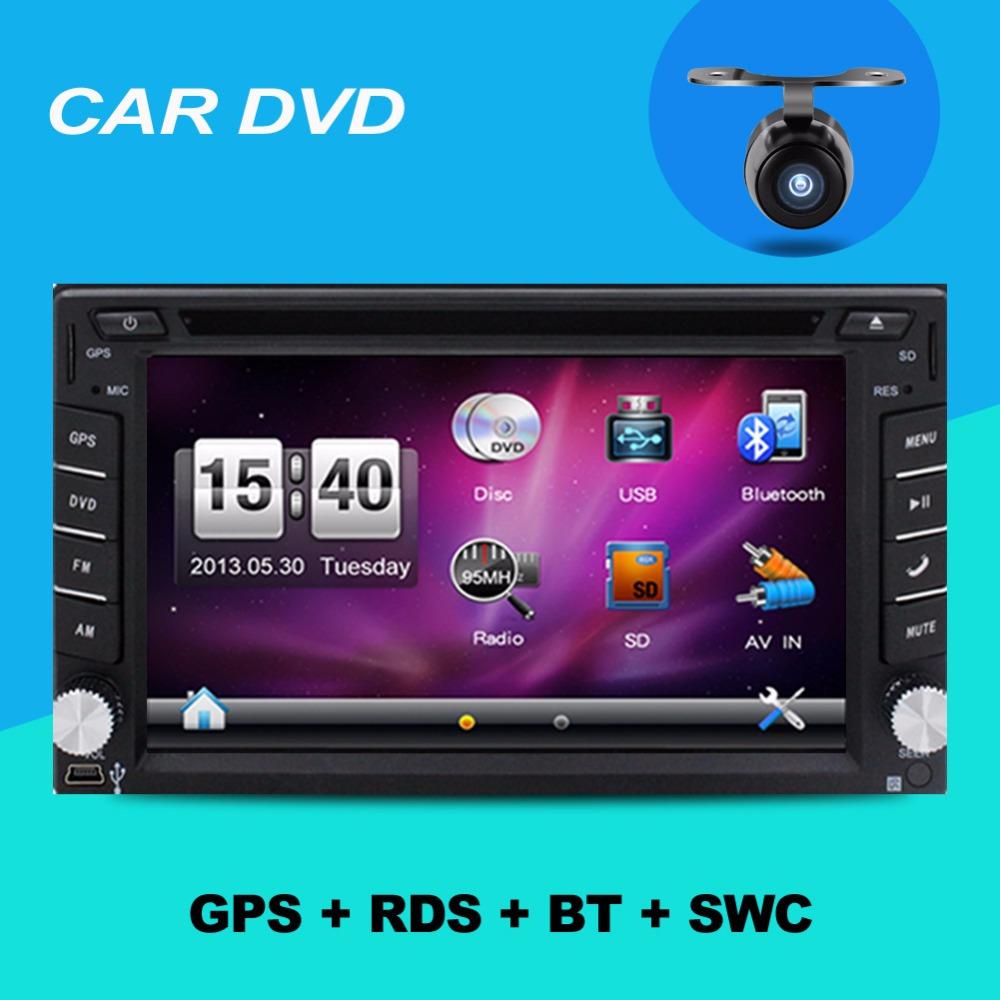 "2 din 6.2"" Steering wheel Auto 2din car dvd player GPS Radio Tuner PC Video Monitors universal RDS Blutooth digital tv (option)(China (Mainland))"