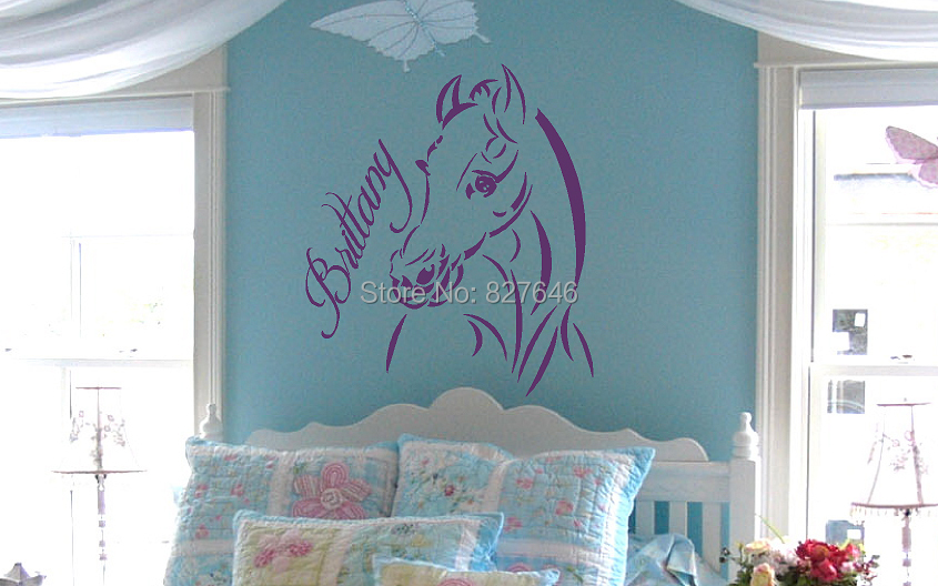 custom name text horse vinyl wall decal quote modern home decor