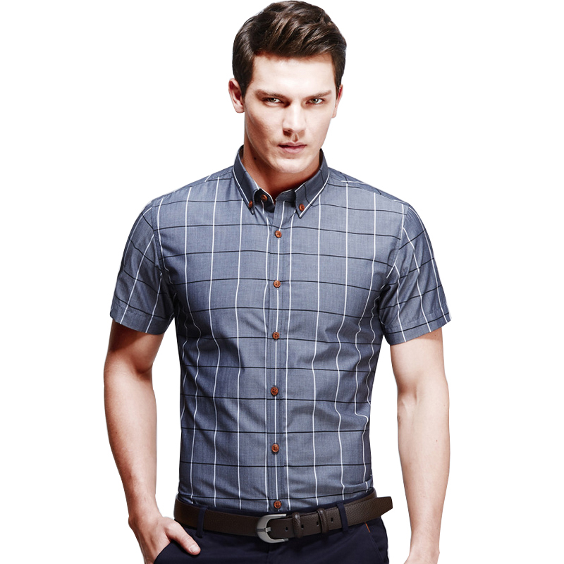 Mens casual dress shirts short sleeve artee shirt for Mens slim fit short sleeve shirt