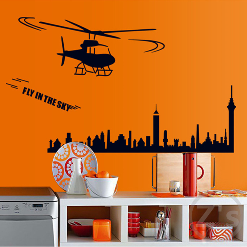 Helo wall stickers for kids rooms boys wallpaper sticker for Boys wall mural