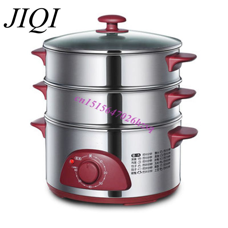 Stainless Steel Electric Vegetable Steamer ~ Stainless steel multifunctional electric food steamer
