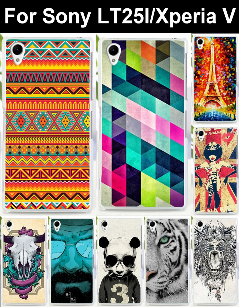 mobile phone case for Sony LT25I LT25h Xperia V hard Back cover Skin Shell Shield cell phone bags Housings Protector sheath(China (Mainland))
