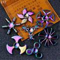 Multicolor Metal Hand Spinner Fidget Spinner Finger Spinner Stress Wheel Tri Spinner Fidget Toy For Grownups