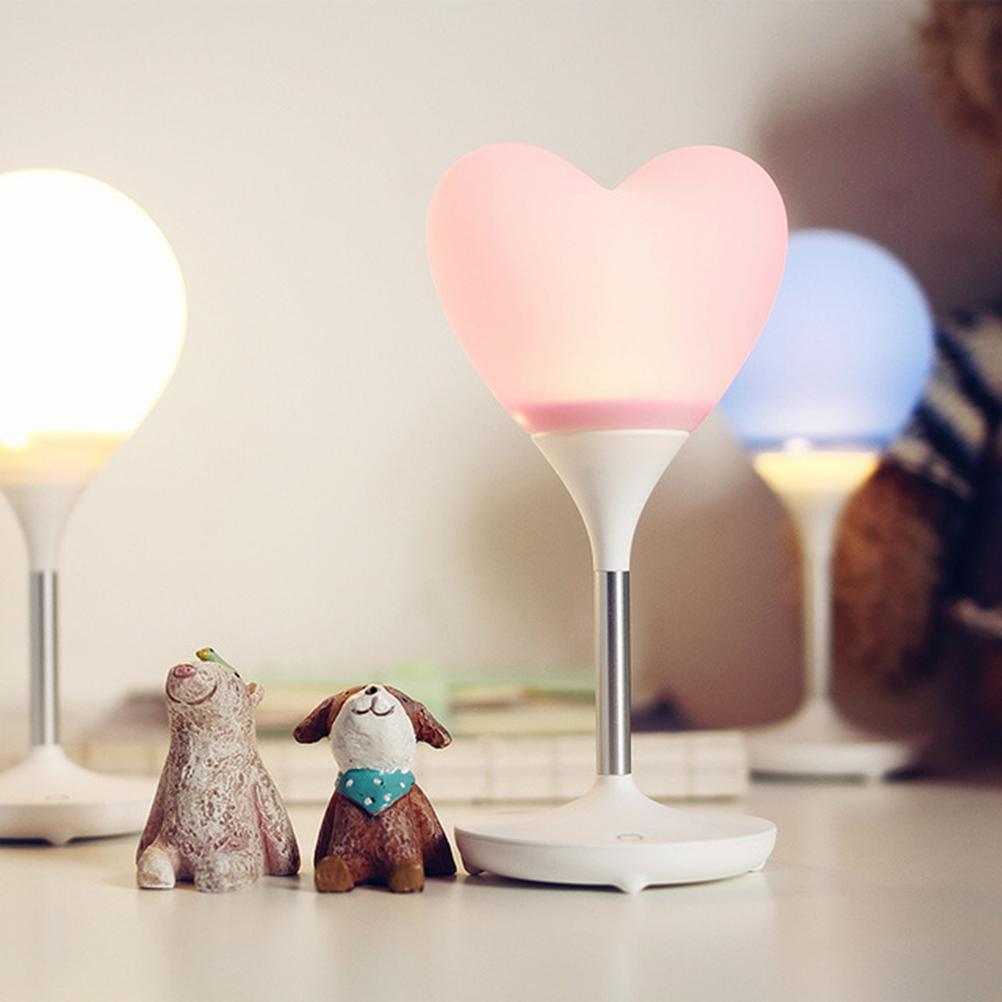 Love Heart Balloon Lights Led Night Light Bedroom Table Lamp Wireless Energy-Saving Bedside Children Nightlights(China (Mainland))