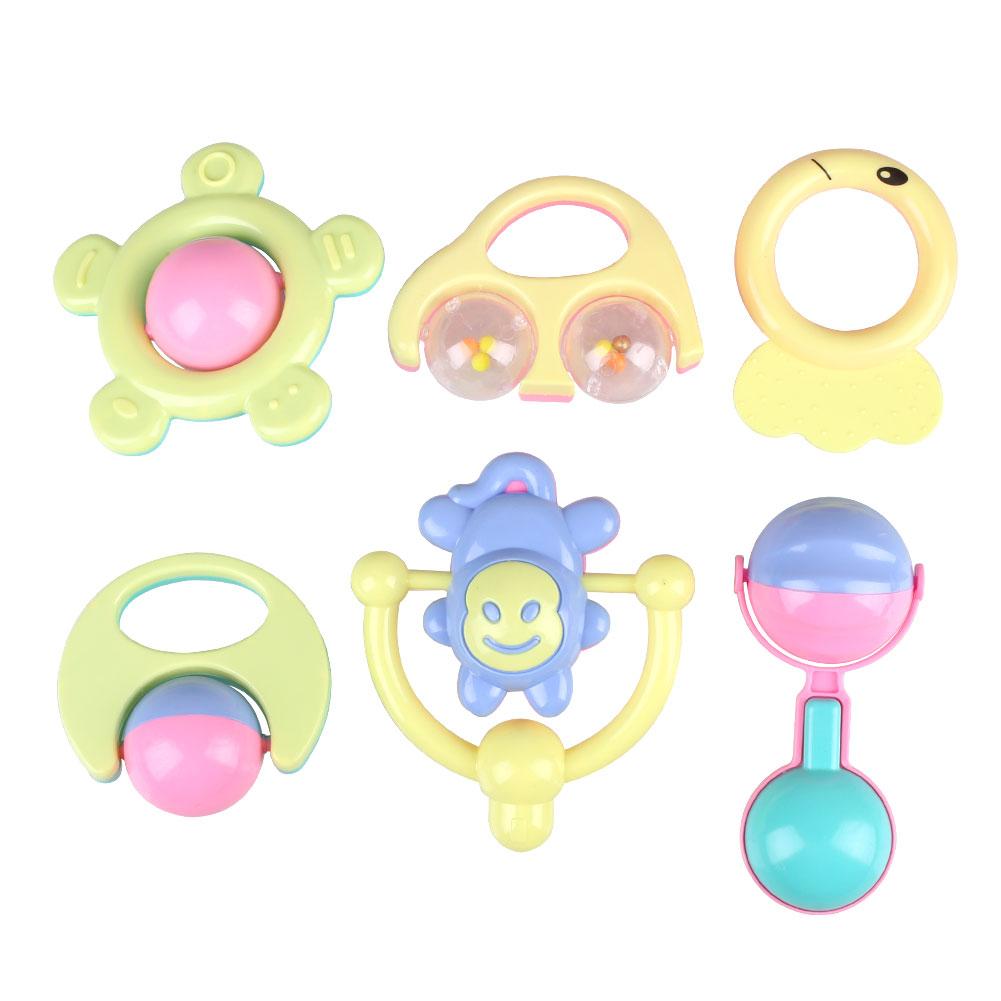 6pcs Baby Kids Children Animal Handbells Safety Developmental Toy Bells Rattle(China (Mainland))