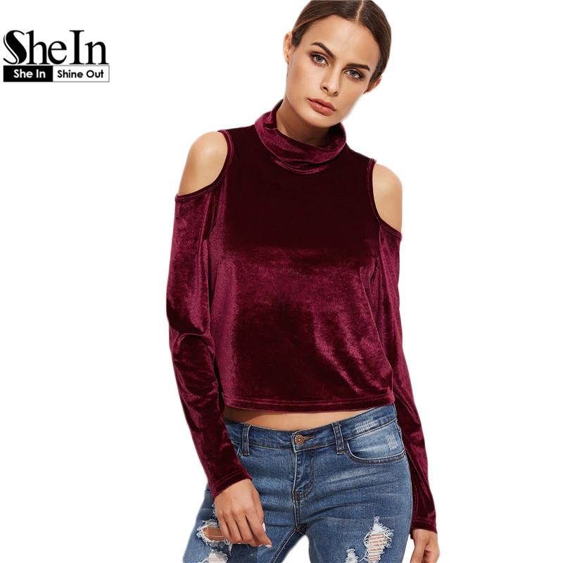 Online kaufen gro handel schnitt schulter bluse aus china for Shein frauen mode
