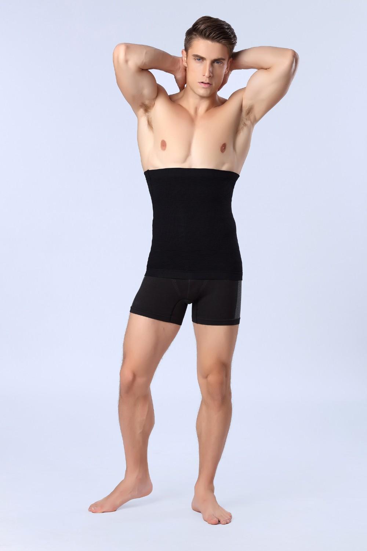 Мужская тренажерный зал одежда органа shaper Живота Жирная бодибилдинг талии тренер фитнес жилет рубашка дышащий мужчины талии формирователь