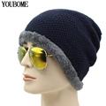 Winter Beanies Men Knitted Hat Winter Hats For Women Men Beanie Skullies Fur Bonnet Outdoor Ski