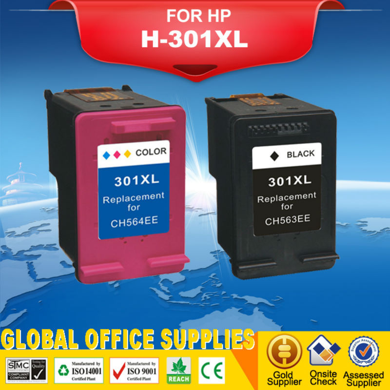 free shipping 1set reman ink cartridges for hp 301 xl for hp deskjet 1050 2050 2050s etc. Black Bedroom Furniture Sets. Home Design Ideas