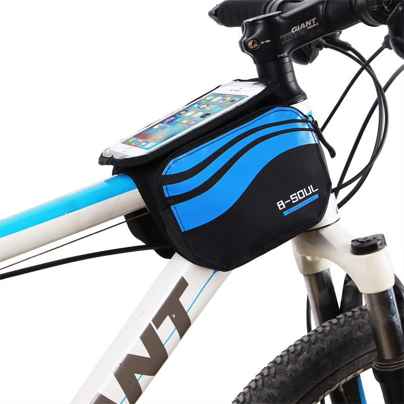 Bicycle Front Touch Screen Phone Bag,MTB Road Bike Cycling Mobile Bag,Cycle Front Bag 5.7 inch Cellphone Bag Bicycle Accessories(China (Mainland))