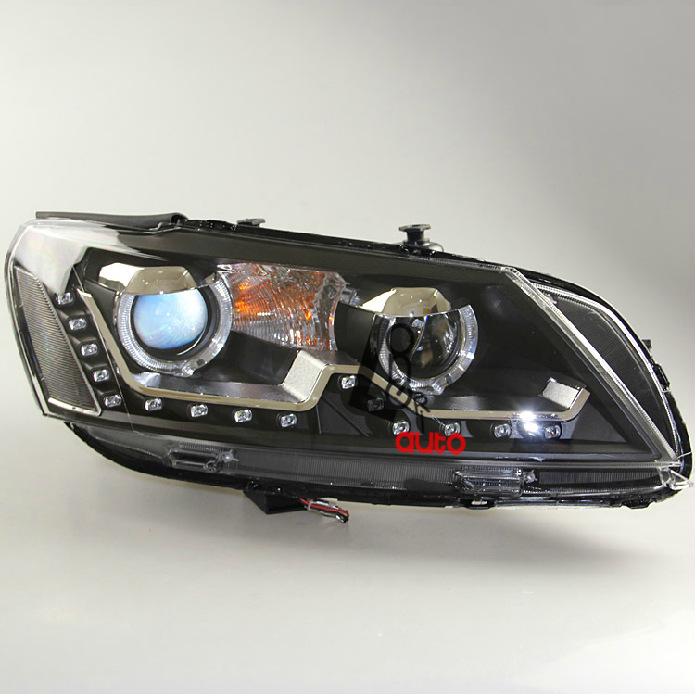 Xenon Headlights LED DRL American Volkswagen Passat V6 B7 2011-2013 - Maylin Autoparts store
