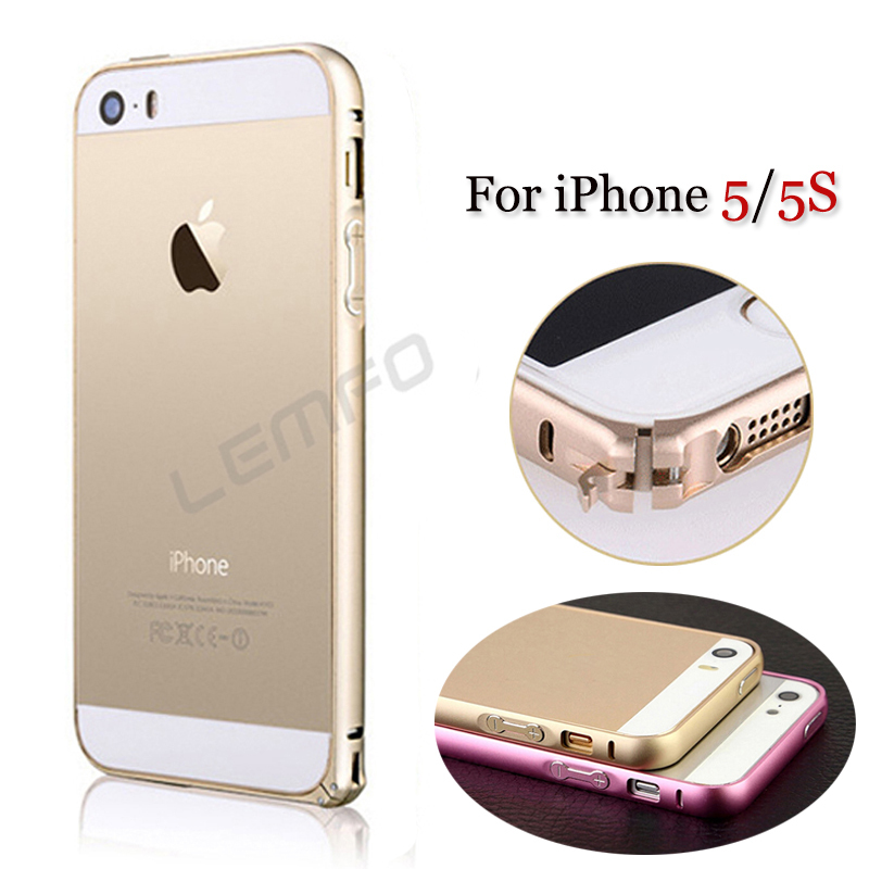 Bumper Cover Case For Apple iPhone 5S 5 Luxury Aluminum Metal Frame Circle Arc No Screw Button Ultra Thin High Quality 9 Colors(China (Mainland))