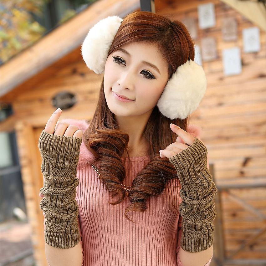 Women's Cotton Blending UV Protection Arm Warmer Long Fingerless Long Gloves Sleeves Retail Wholesale free shipping