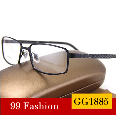 New 2016 Eyewear Glasses Frame Fashion Designer Brands GG1885 Eyeglasses Titanium Frames Men Optical Full Frame Free Shipping(China (Mainland))