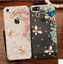 Buy Beautiful 3D flower Rhinestone Diamond Clear Crystal Butterfly Case Samsung Galaxy J1 mini J3 Cell Phone Cover for $2.93 in AliExpress store