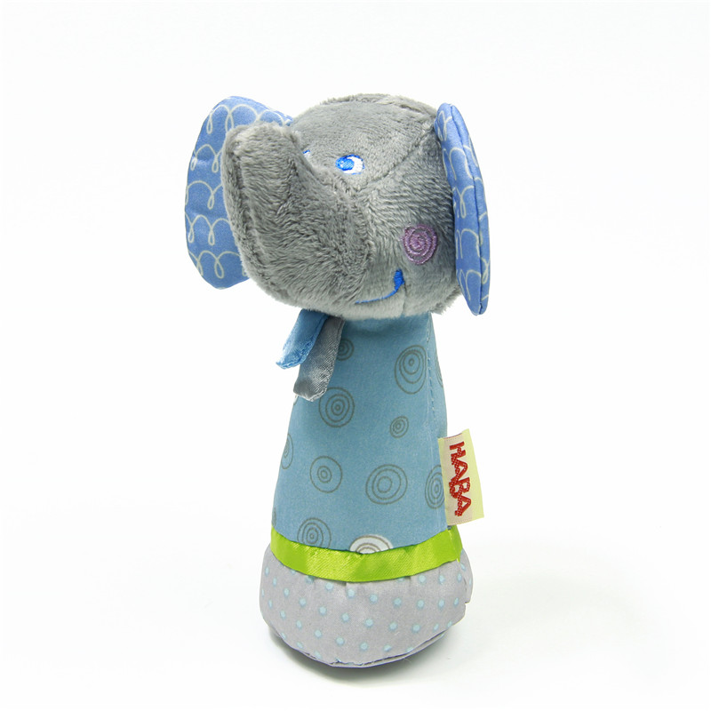 1pc Soft Baby Elephant Toy 14cm Cartoon Animal Squeak Early Educational Brinquedos Juguetes Baby Soft Plush Toy(China (Mainland))