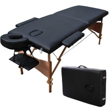 "Goplus 84""L Portable Massage Table Facial SPA Bed Tattoo w/Free Carry Case Black Free Shipping HB78775BK(China (Mainland))"
