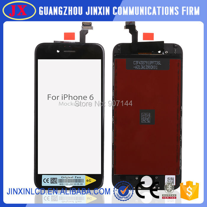 10pcs/lot LCD Display Screen Touch Digitizer Replacement Assembly For iPhone 6 by dhl ups ems(China (Mainland))